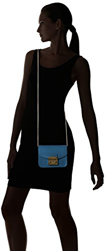 FURLA Metropolis Mini Crossbody, Borsa a tracolla donna Blue (Blu Ginepro B)