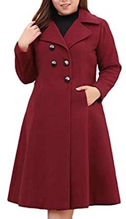 Amazon.com: Pcutrone Women's Woolen Lapel Fall Winter