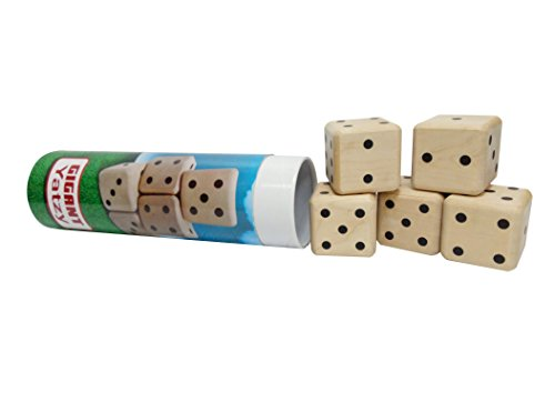 Heemika Yahtzee Game, Garden Yatzy, Wooden 3D Cube Dice Puzzle, Classic Yahtzee by Heemika
