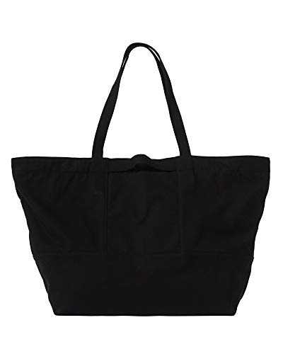 BAGGU Women's Weekend Bag, Roomy and Durable Canvas Carry-on Travel Tote, Black (2018)