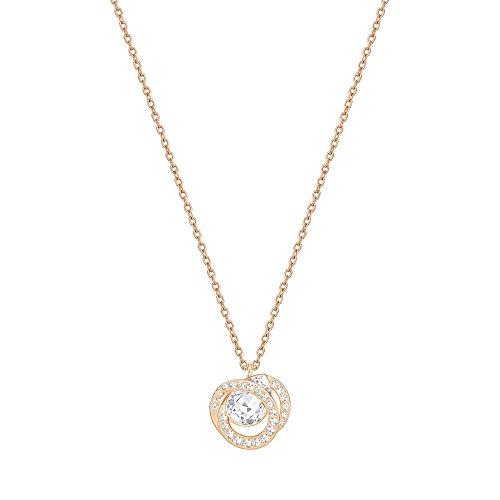 Swarovski Crystal Generation White Rose-Gold Plated Pendant