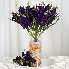 4 Purple Bushes Silk Freesia Wedding Flowers Bouquets Reception Party Decoration (Bouquet Freesia Wedding)