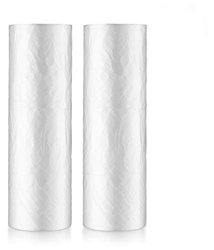 12' Pastry Roll - Basix Clear Plastic Produce Fruits Vegetables Bag On A Roll 12 '' x 20'' 2 Rolls