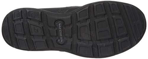 Skechers Men's Relaxed Fit Harper - Forde Black Leather Shoe