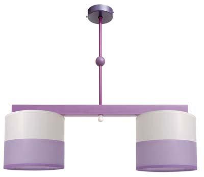 FABRILAMP Lámpara de Techo Infantil Lila. 2xE14. (50x55cm ...