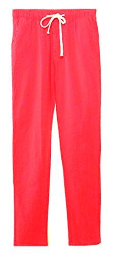 Linen Blend Bootcut Pants - 6