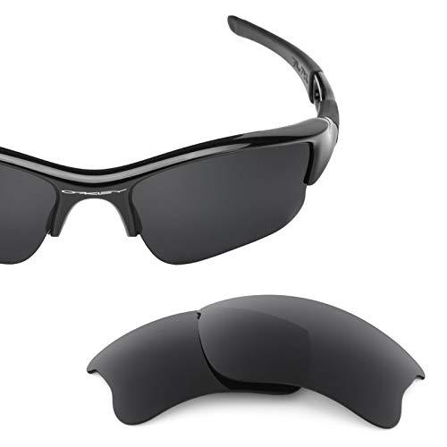 Revant Polarized Replacement Lenses for Oakley Flak Jacket XLJ Elite Stealth (Flak Jacket Xlj Replacement Lens)