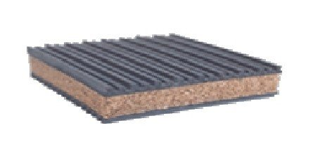 4 Pack of Anti Vibration Pads 6'' x 6'' x 7/8'' Rubber/Cork Vibration isolation pads