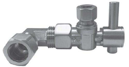 Jaclo 616-2-SKT-PCH Skirted Toilet Supply Valve, Polished Chrome