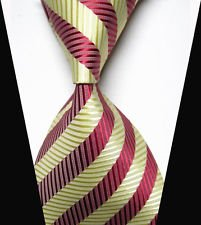 jacob alex #38803 Classic Necktie Elegant Striped Tie WOVEN JACQUARD Silk Men's Suits Ties (Famous Couples Halloween)