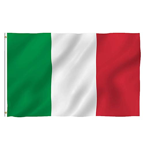 Oniche Italy Flag 3X5 FT Italian Flag Quality Polyester Flag Indoor/Outdoor Flags Vivid Color Flag with Brass Grommets (Italy Flag) ()