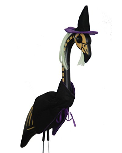 Witch Skel-A-Mingo Flamingo Lawn Ornament by Pink Inc. (Lawn Gnome Costume)