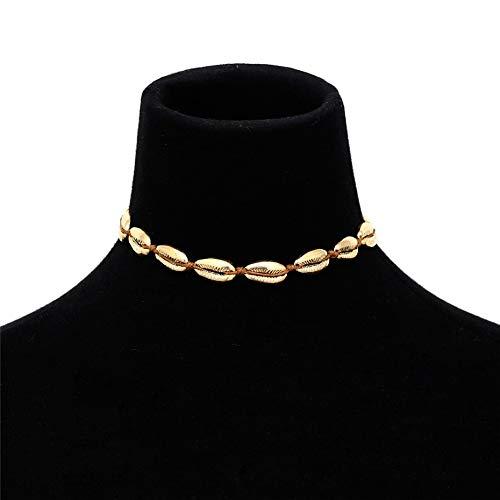 Summer Beach Alloy Shell Choker Necklace   Golden Silver Seashell Necklace   Women Girls Accessories Jewelry Gifts