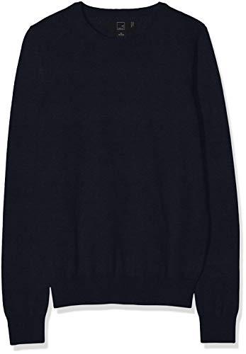 MERAKI Women's Cotton Crew Neck Sweater,  Blue (Navy), M (US 8)