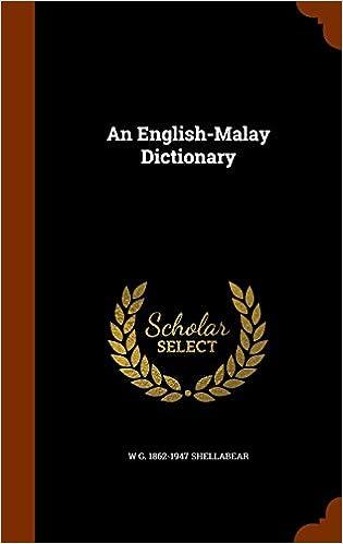 Book An English-Malay Dictionary