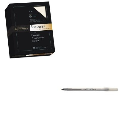 KITBICGSM11BKSOU3112616 - Value Kit - Southworth 100% Cotton Business Paper (SOU3112616) and BIC Round Stic Ballpoint Stick Pen (BICGSM11BK) by Southworth