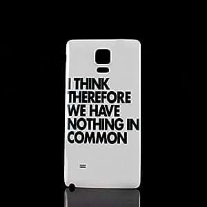 YULIN Teléfono Móvil Samsung - Cobertor Posterior - Gráfico - para Samsung Galaxy Note 4 Plástico )