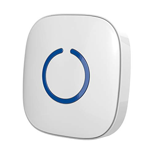 (STARPOINT Extra Add-On Plugin Receiver for the STARPOINT Expandable Wireless Multi-Unit Long Range Doorbell Chime Alert System, Model LR, White)