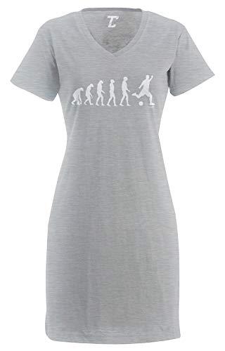 Evolution to Soccer - Futbol Sports Women's Nightshirt (Light Gray, Small/Medium)