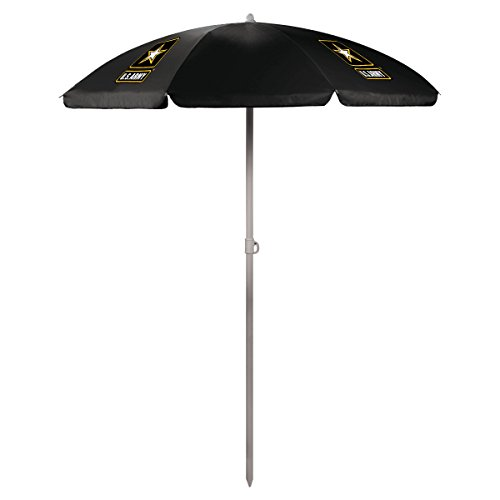 Picnic Time U.S. Army Portable Canopy Outdoor Sunshade Umbrella, 5.5′ For Sale