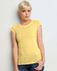 Bella+Canvas Women's Combed Cap-Sleeve Sheer Jersey T-Shirt_Small_PEBBLE BROWN