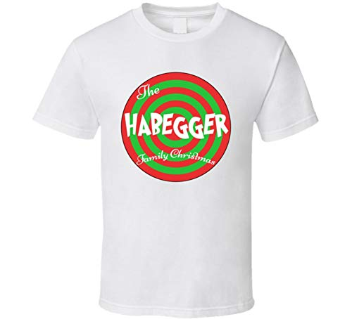 The Habegger Family Christmas Last Name T Shirt L White, used for sale  Delivered anywhere in USA