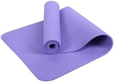 Yoga mat 環境に優しいTPEノンスリップヨガマットエクササイズパッド厚さ5ミリメートル、ヨガのすべてのタイプに適した、ピラティス、床は183センチメートル×61センチメートル演習します workout (色 : Purple)