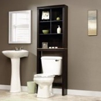 Bathroom,tagere,Cinnamon Cherry, Wonderful Addition to Any Bathroom Needing More Storage Space, Featuring a Dark Wood Finish, Bottom Shelf Has a Strong,Bundle with Expert Guide for Better Life