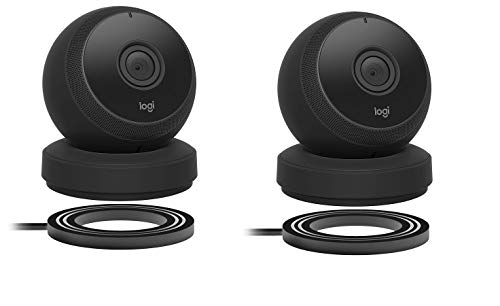 - Logitech Circle Wireless HD Video Battery Powered Security Camera with 2-Way Talk, Compatible with Alexa (2 Pack, Black)