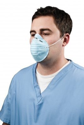 1000 ct. Disposable Dust & Filter Mask Blue Cone Shape Non-Toxic