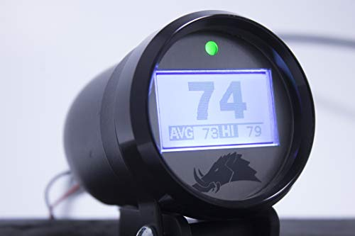 Belt Temperature Gauge w/Infrared Sensor (for UTVs and Snowmobiles) - 3.0 Edition (Snowmobile, Black) ()
