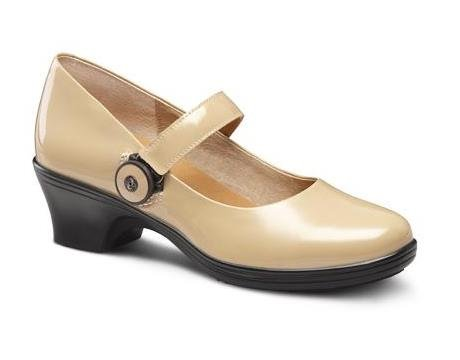 Dr. Comfort Coco Women's Diabetic Extra Depth Heel Dress Shoe: Taupe 10 Wide (C-D) BOA