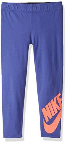 NIKE Children's Apparel Girls' Little Sportswear Graphic Leggings, Rush Violet/Lava, 4 (Lava Pants)