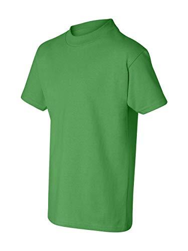 Hanes boys Cotton T-Shirt(5450)-Shamrock Green-S