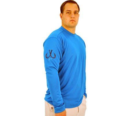 Montauk Tackle Co Men's Performance Long Sleeve Crew Neck Shirt,Napeaque Blue,US