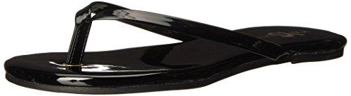 Yosi Samra Women's Rivington Flip-Flop, Black 420, 11 M US - 420 Black Leather