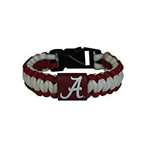 Game Day Outfitters NCAA Alabama Crimson Tide Jewelry Rope Bracelet, One Size, Multicolor