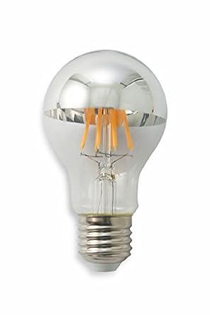 Kooper - 2415698 Bombilla gota LED edison e27, 8 W, plateado: Amazon.es: Iluminación