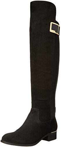Calvin Klein Women's Cyra Riding Boot, Black, 7 M US by Calvin Klein