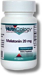 La mélatonine Nutricology 20 Mg, Vegicaps, 60-Count