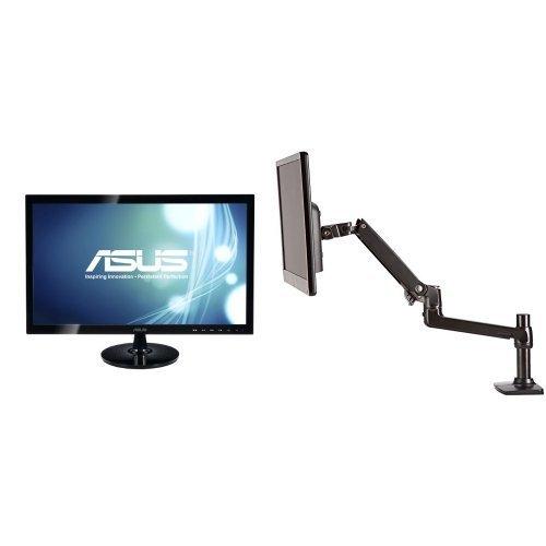 asus-vs248h-p-24-inch-full-hd-vga-back-lit-led-monitor-and-amazonbasics-single-monitor-arm-set
