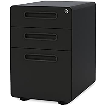 Amazon Com Sereni T 3 Drawer Filing Cabinet 211206 From