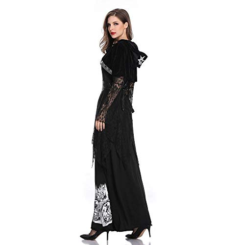Yunfeng Witch Costume Halloween Female Vampire Costume Earl Costume Ghost Bride Witch Princess Skirt Cosplay Costume -