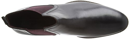 Homme Stockwood Leather Tape Black Red Bordo Chelsea Boots Black q1PIAwU4a
