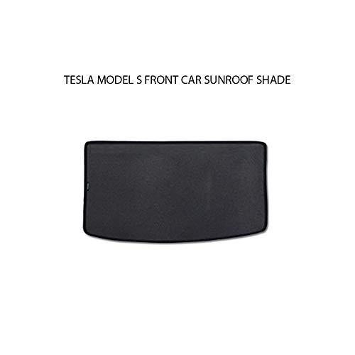 CoolKo Tesla Car Window Sun Shades UV Rays Protection for Model S 2012-2019 - Front Row Sunroof Shade [ Black ]