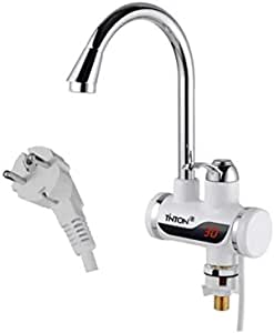 TINTON LIFE Instant Tankless Electric Hot Water Heater Faucet Kitchen Instant Heating Tap Water Heater with LED