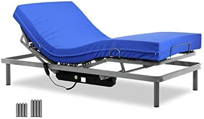 Gerialife® Cama articulada con colchón Sanitario viscoelástico Impermeable (90x190)