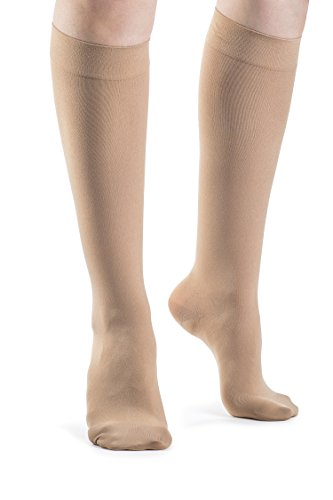 SIGVARIS SOFT OPAQUE 840 Women's Closed Toe Calf Compression Socks 15-20mmHg ()