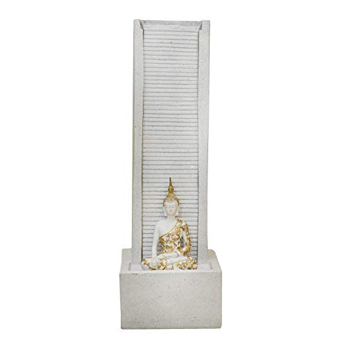 Amaltas Lord Buddha White Marble Water Fountain Statue