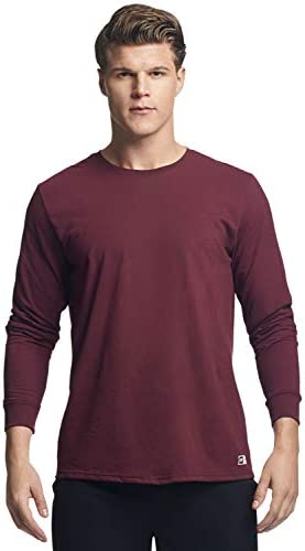 Russell Athletic Men's Cotton Performance Long Sleeve T-Shirts